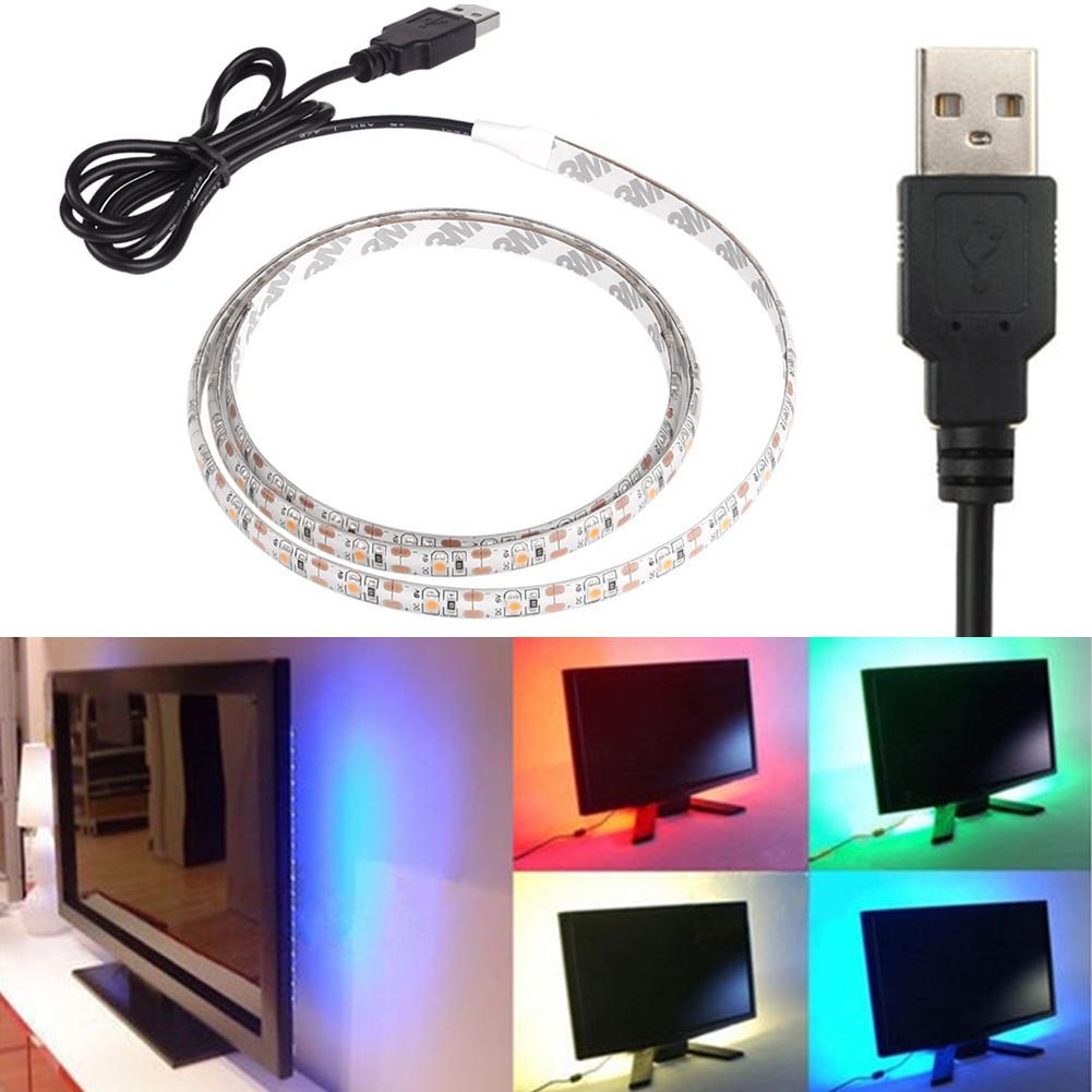 usb 5v led 3528 smd streifen strip lichtleiste lichtband lichterkette leuchte d ebay. Black Bedroom Furniture Sets. Home Design Ideas