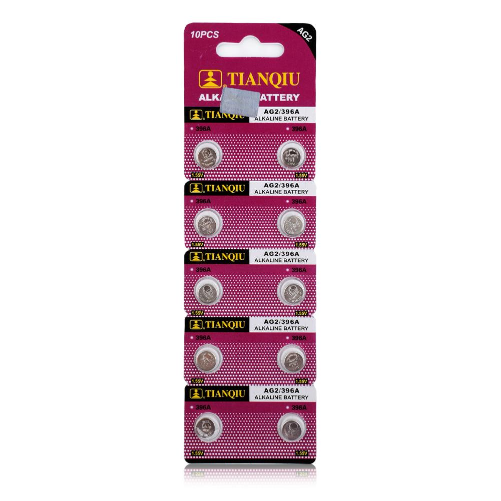 YCDC AG2 396A LR726 SR726SW CX59 LR59 SR59 397 Button Cell Batteries Pack 10PCS