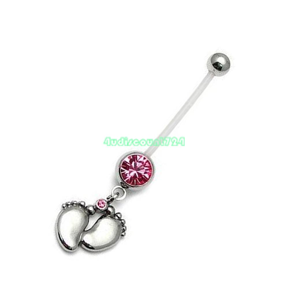 baby maternity pregnancy belly ring dangle