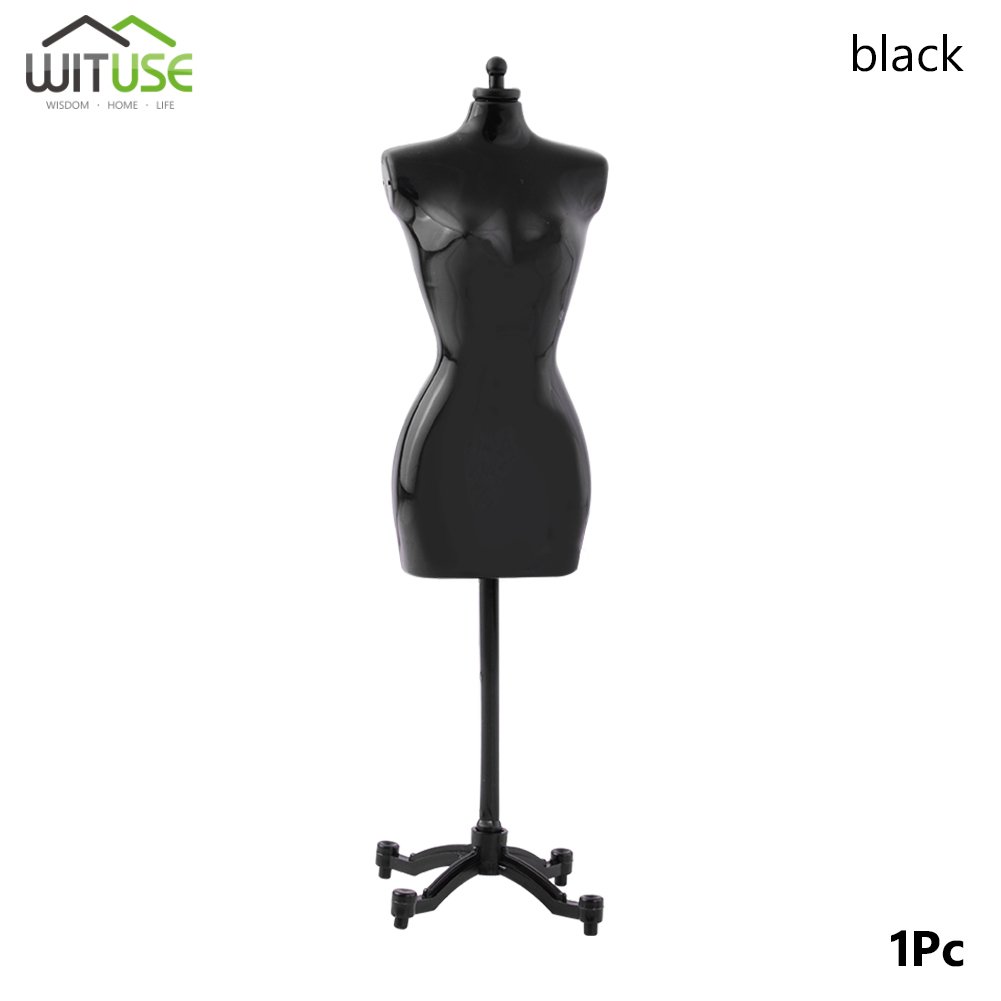 Купити Barbie Doll Mannequin Dress Clothing Clothes Garment Display Stand Shelf Black в Україні
