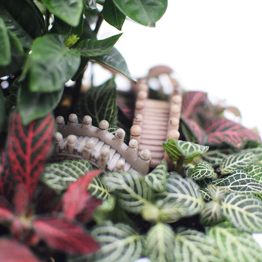 Craft Stone Bridge Figurines Micro Landscape Garden Lawn Bonsai Ornaments 2ED6