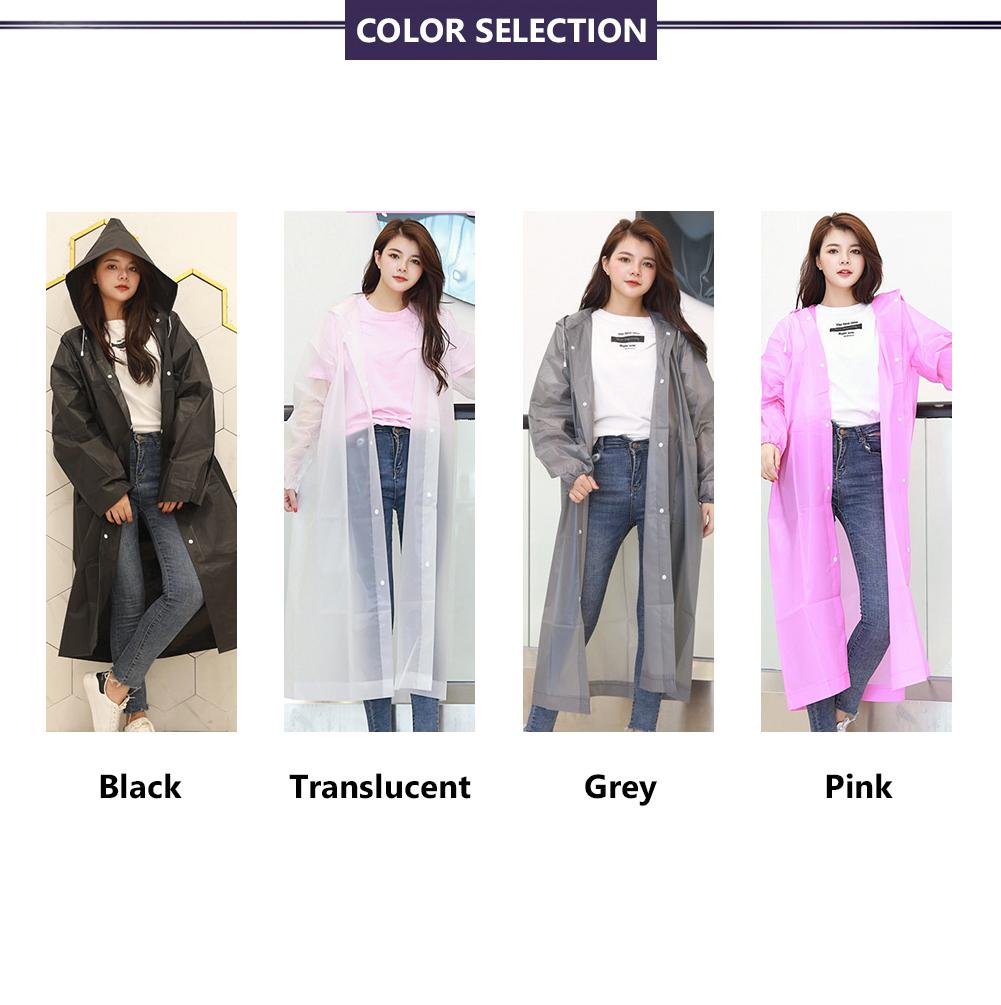 Durable Rain Coat Rainwear Tear Resistant Covered Waterproof Outerwear Poncho YG
