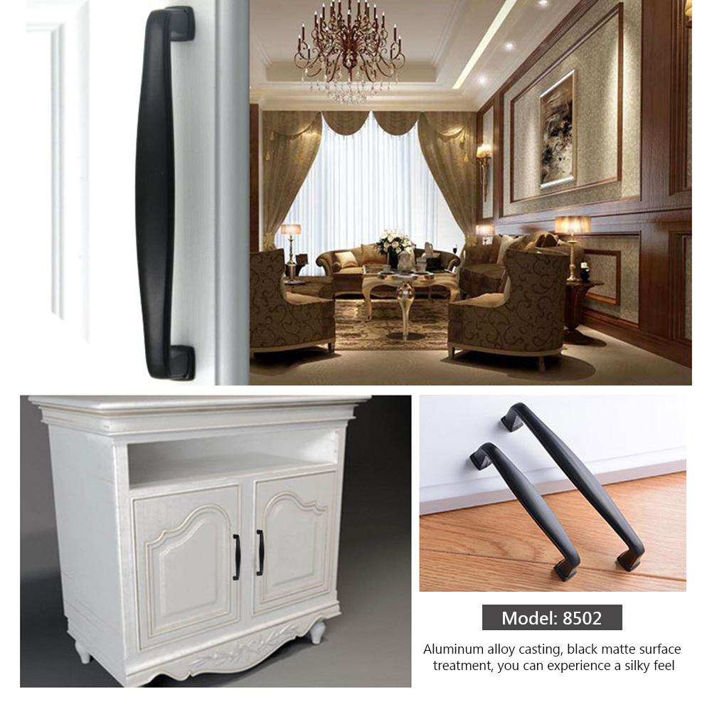 Aluminio Negro Gabinete Cocina Tiradores Puerta Armario ...