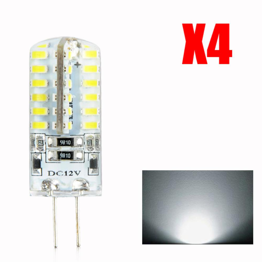 4pcs-G4-3014SMD-5W-48-LED-Crystal-Lamp-Light-Bulb-Chandelier-12V-DC-Cool-White thumbnail 2