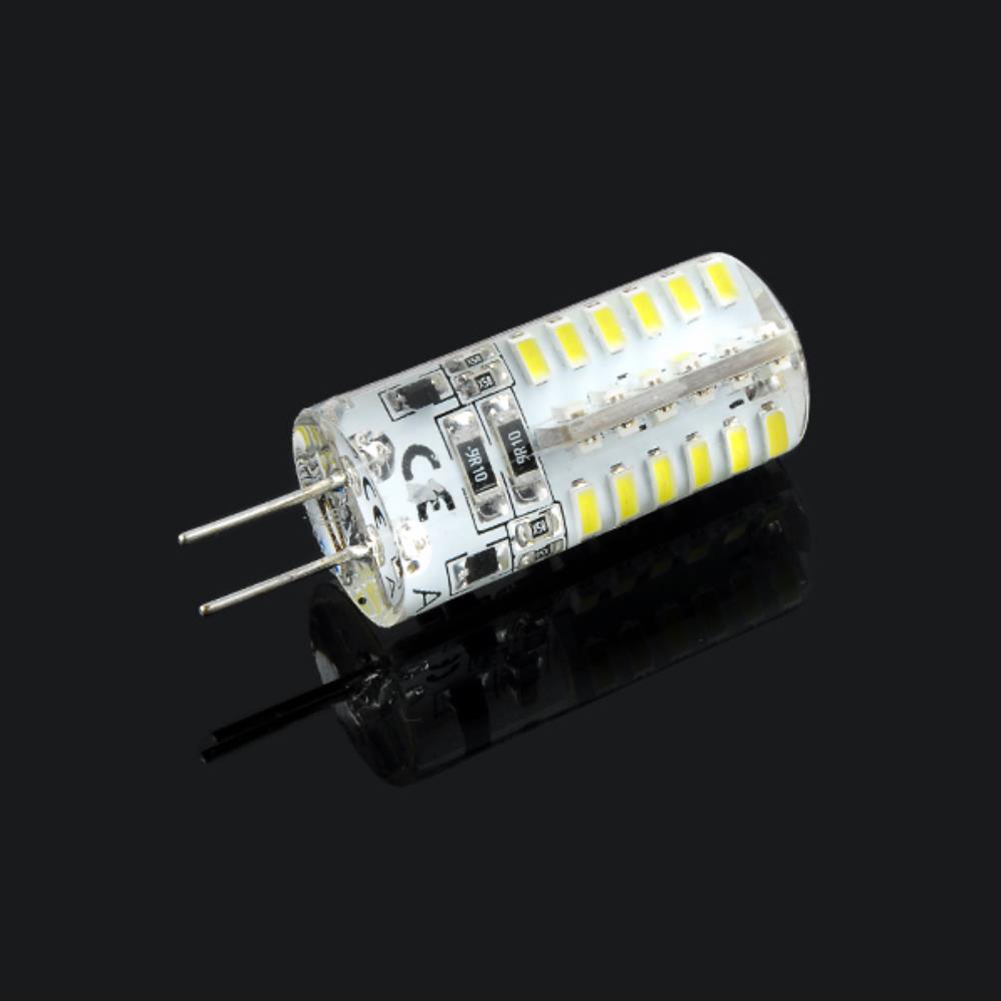4pcs-G4-3014SMD-5W-48-LED-Crystal-Lamp-Light-Bulb-Chandelier-12V-DC-Cool-White thumbnail 3