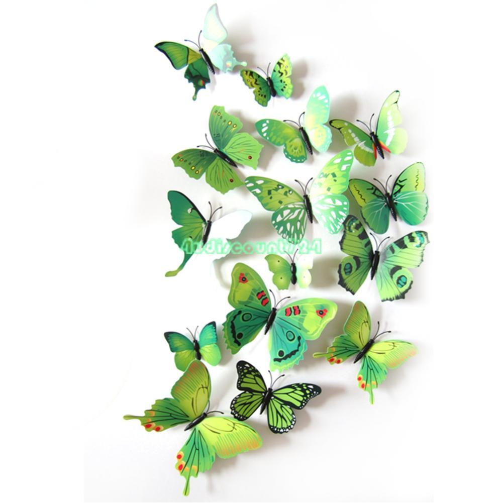 3d butterfly mirror effect wall stickers art mural decal set8 9 3d butterfly wall decor mirror wall sticker
