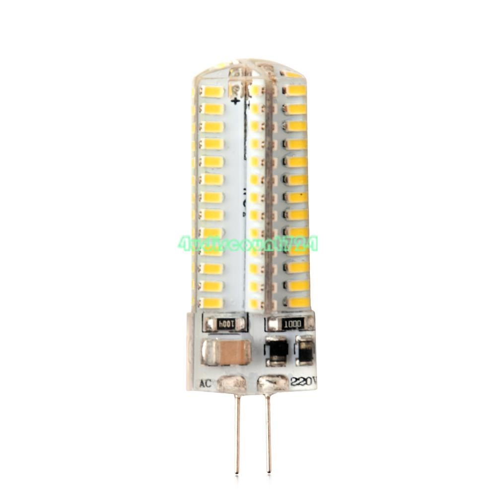 g4 led lamp crystal corn bulbs 3014smd silicone lights 12v ac dc ac 220v 3 5 9w ebay. Black Bedroom Furniture Sets. Home Design Ideas