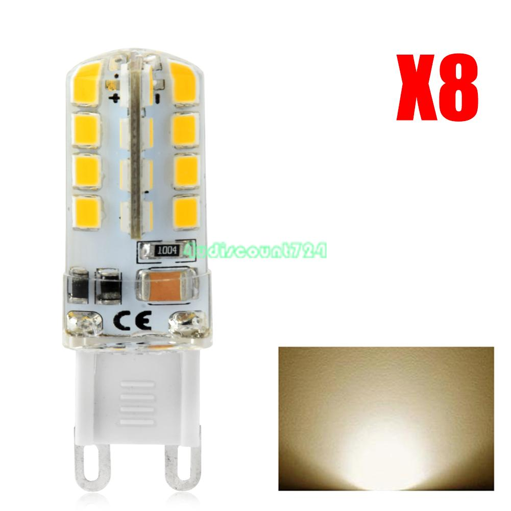 8x warmwei 3w g9 2835 smd led mais birnen lampen licht gl hbirne lampe 220v f9 ebay. Black Bedroom Furniture Sets. Home Design Ideas