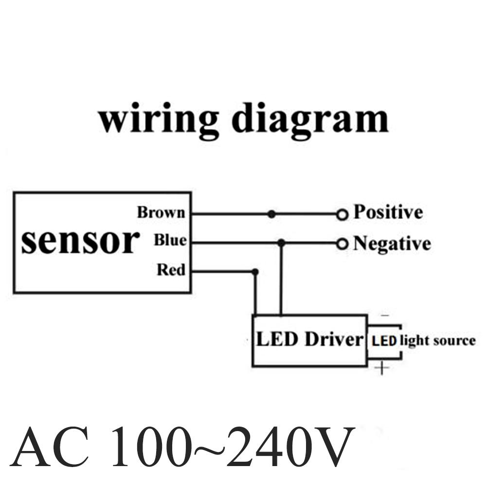 Wiring Diagram For Switched Security Light : M rf outdoor switch security pir infrared motion sensor