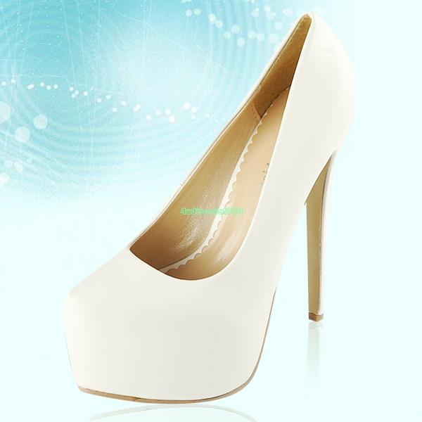 Womens Glitter Shiny Party Prom Platform Pumps Court Shoes High Stiletto Heels