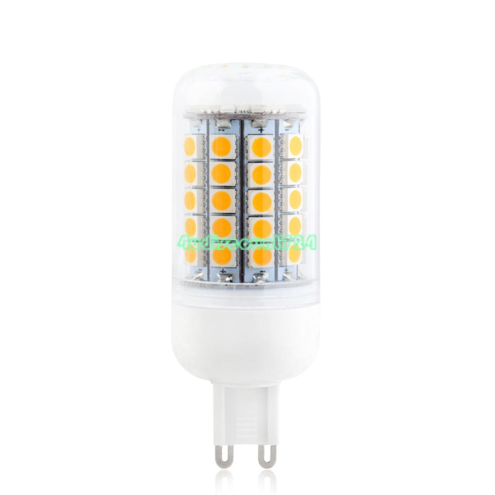 WARM COOL WHITE 5050 SMD LED LAMP CORN BULB GREEN LIGHT 220V E27 E14 ...