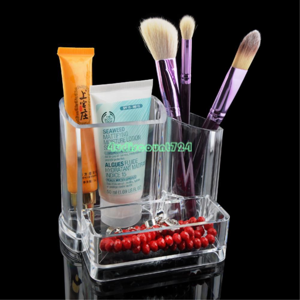 Clear makeup organizer