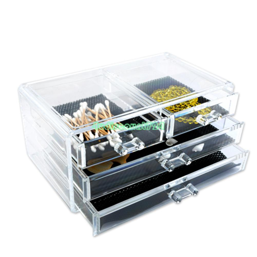 Clear Acrylic Makeup Cosmetic Organizer Case Drawers