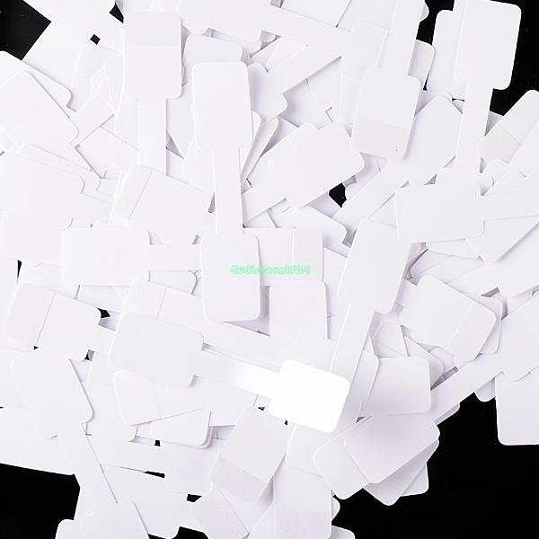 50PCS PAPER NECKLACE RING JEWELLERY WHITE BLANK PRICE TAGS LABELS