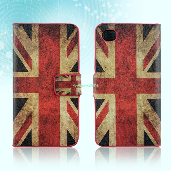 Leather Wallet Stand Magnetic Flip Case Cover Skin For Apple iPhone 4 4S 5G 5S