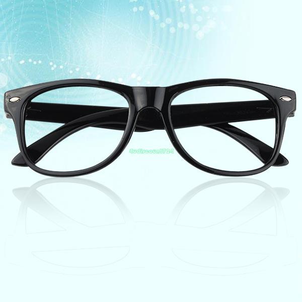 Black Frame Glasses For Babies : For Children Kids Bright Black No Glasses Cute Round ...