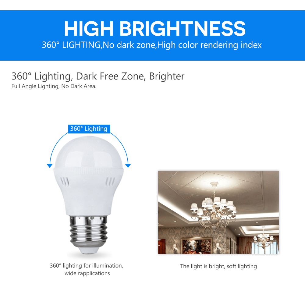 220V E27 B22 E14 Energy Saving LED Bulb Light 5/7/9/12W ...