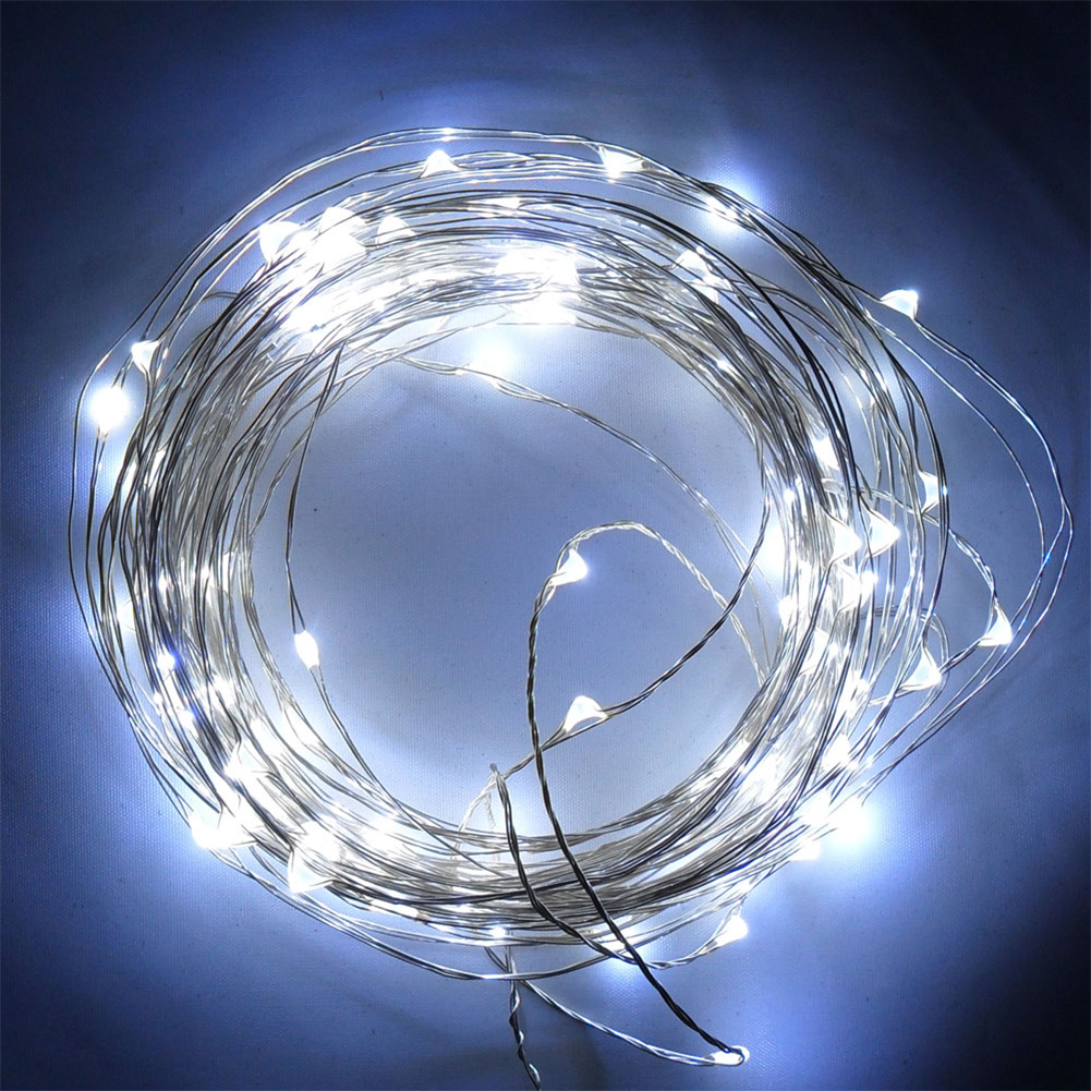 Starry String Lights Outdoor : 10M 100 LEDs Silver Wire Fairy Starry String Lights DC 12V Indoor/Outdoor Decor eBay