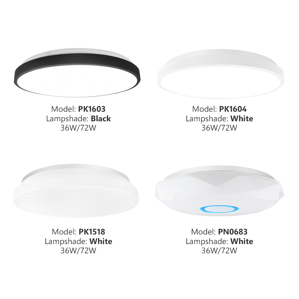 Cool//Warm White LED Recessed Panel Light Round Ceiling Lamp 3//6//9//15//18//24W 2835