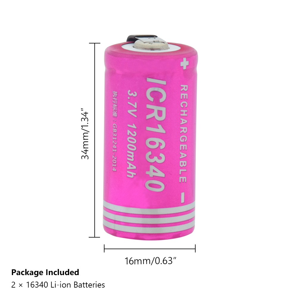 3.7v 1200mah High-discharge Current Li-ion Cr123a 16340 Rechargeable Lithium Battery Diy Nickel Piece For Laser Pen Led Torch Discounts Price Replacement Batteries Batteries