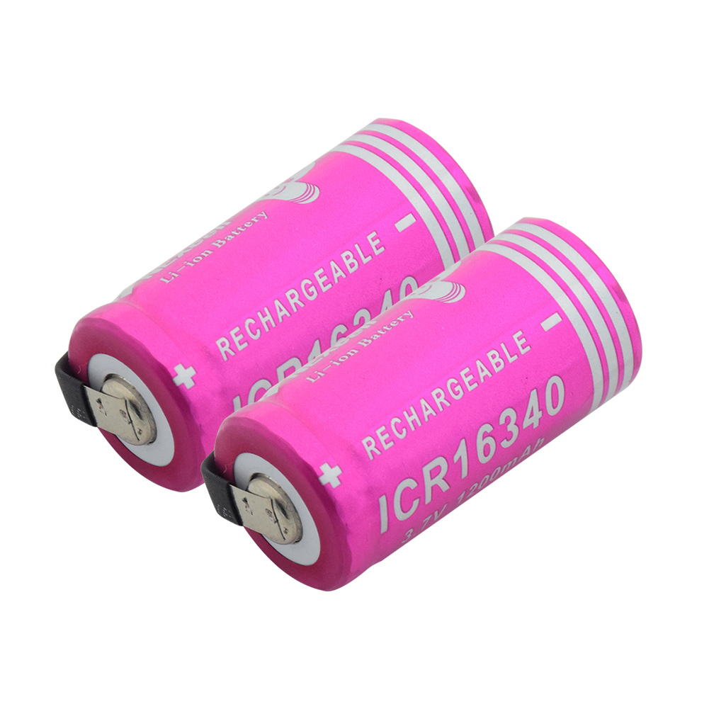 Power Source 3.7v 1200mah High-discharge Current Li-ion Cr123a 16340 Rechargeable Lithium Battery Diy Nickel Piece For Laser Pen Led Torch Discounts Price