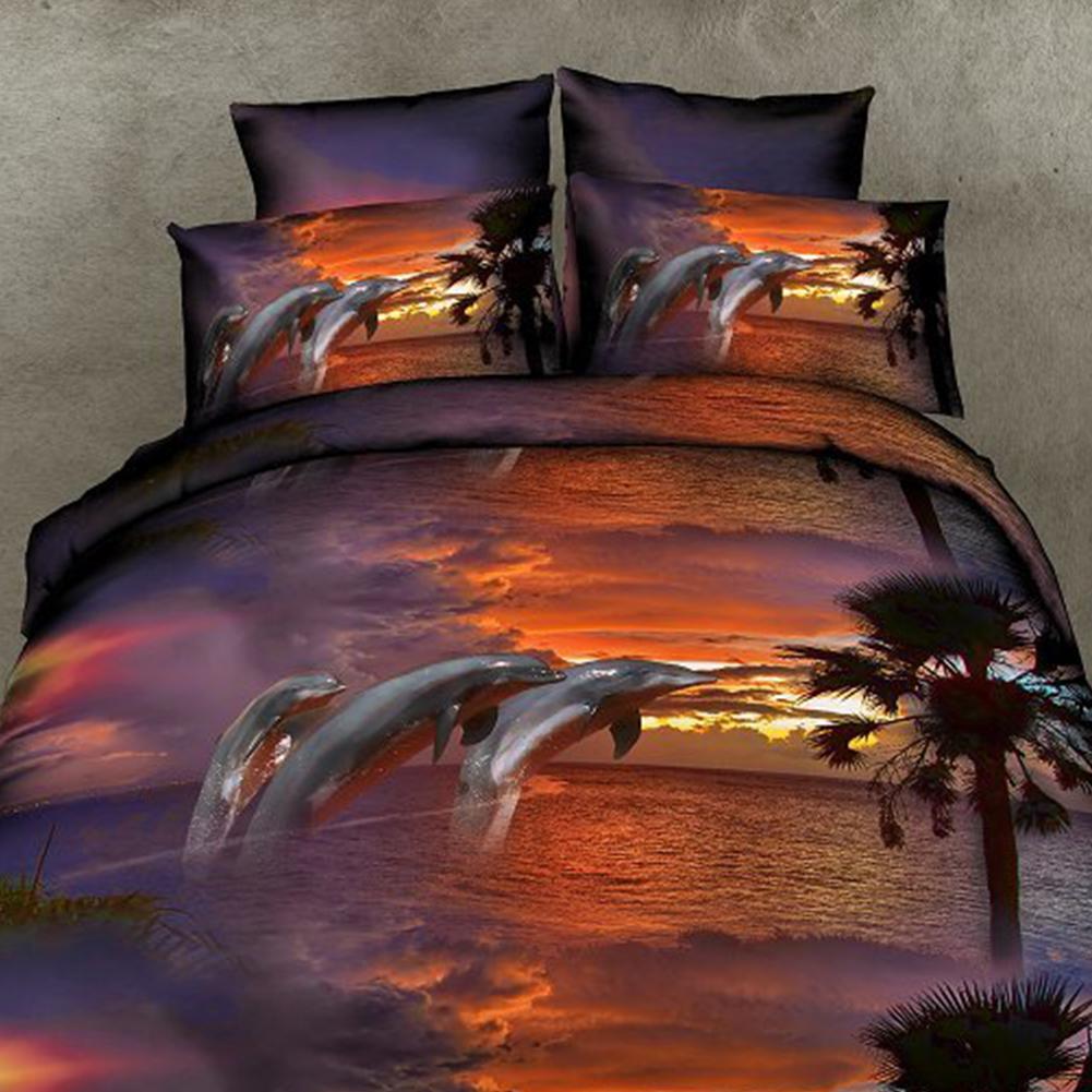 Tiger 3D Kingsize-Bettbezug Wildes Tier Bettwäsche Set inklusive Kissenbezug