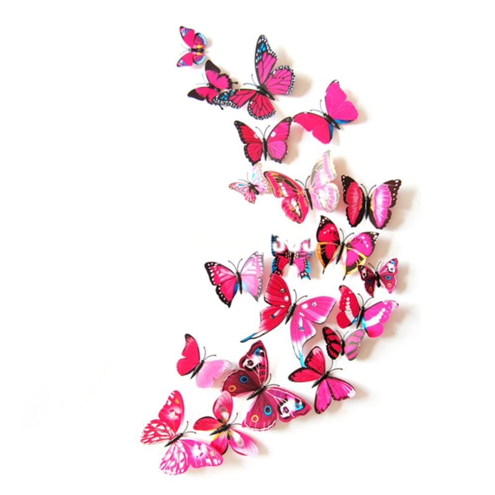 12pcs colorful butterfly wall stickers 3d festival wedding butterfly wall stickers 3d butterfly wall stickers 3d