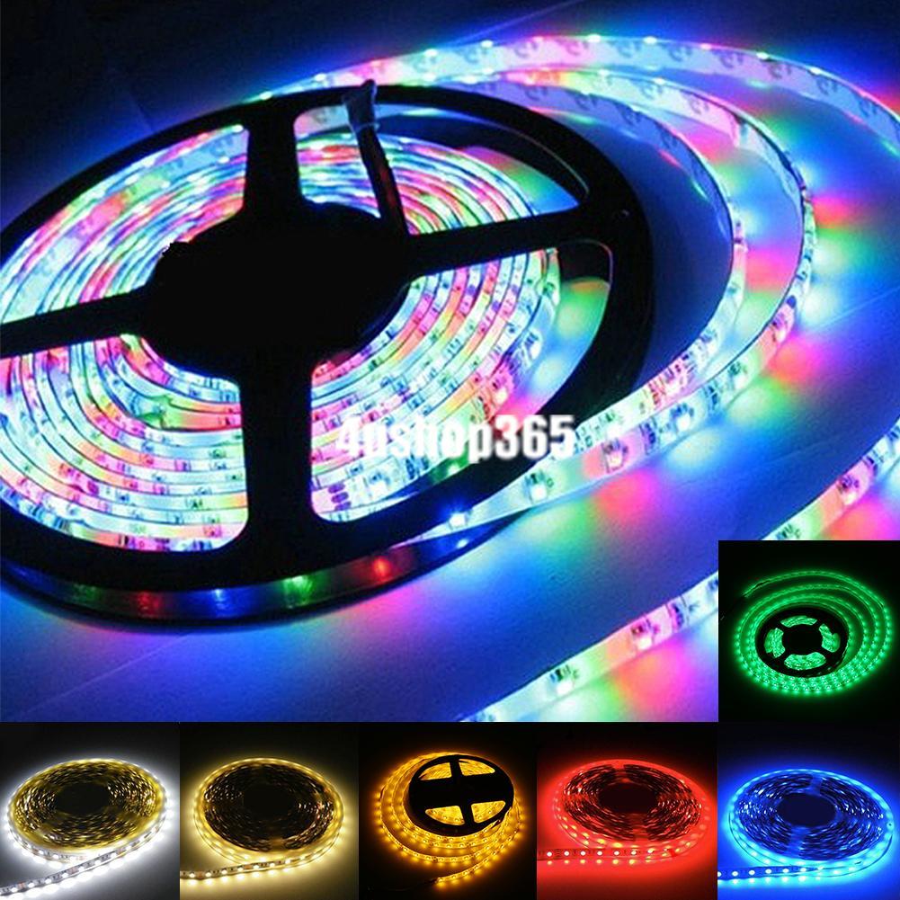 SMD 3528 LED Stripe Lichterkette RGB Rot Blau Kaltweiß 12V 1//5M Lichtstreifen