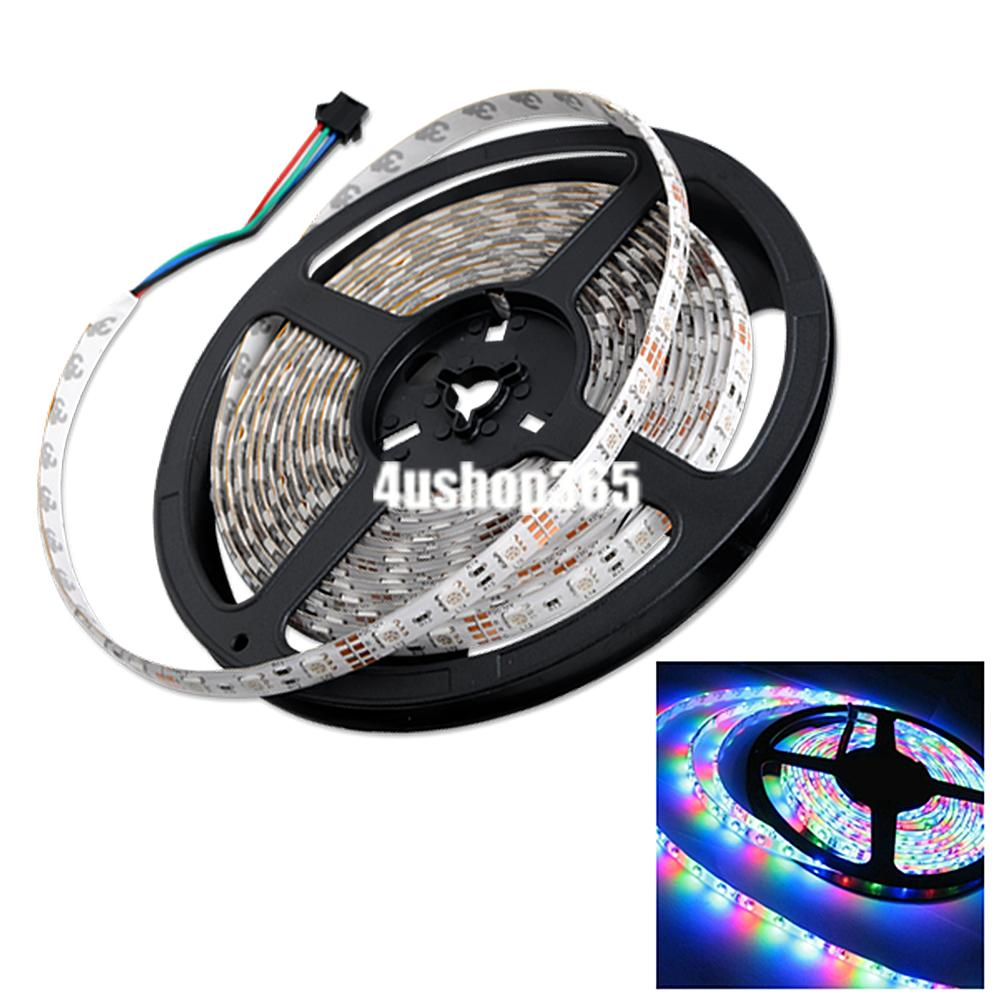 multi color 5m rgb 5050 smd waterproof 300 led light strip flexible 12v power. Black Bedroom Furniture Sets. Home Design Ideas