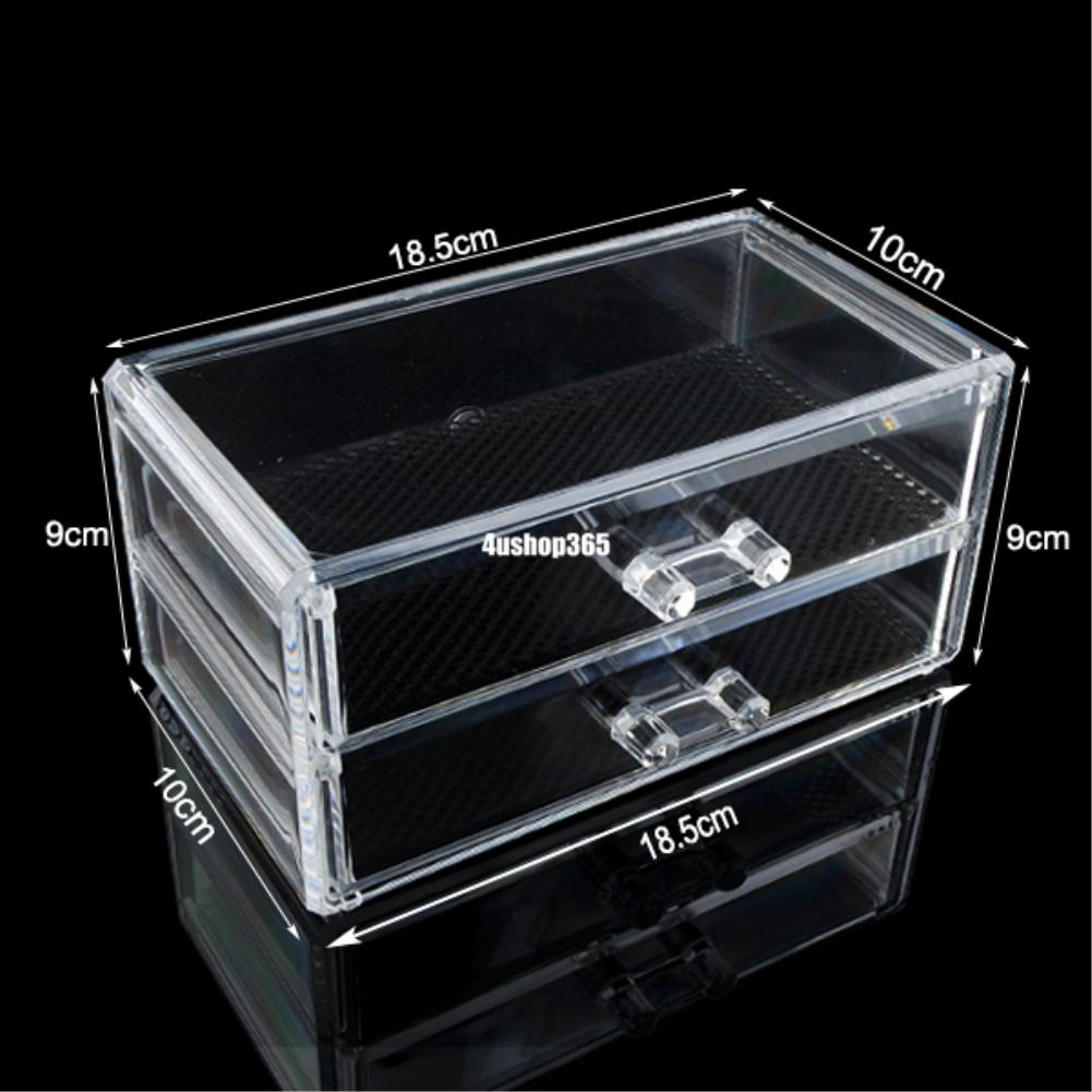 Acrylic Box Organiser : Cosmetic makeup jewelry lipstick brush ring clear acrylic