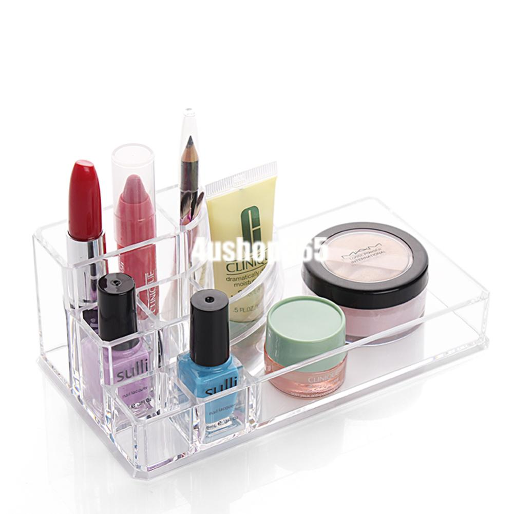 CLEAR ACRYLIC MAKEUP COSMETIC ORGANIZER CASE DRAWERS ...