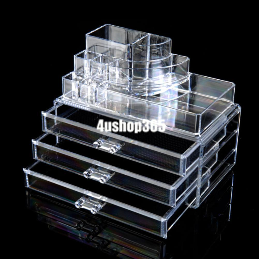 Cosmetic Makeup Jewelry Lipstick Brush Ring Clear Acrylic