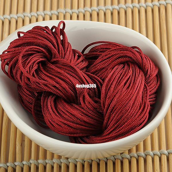 1mm-Chinese-Nylon-Knot-Cord-Macrame-Braided-Rattail-Bracelet-Beading-Thread
