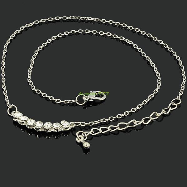 16 Styles Heart Pendant Silver Rhinestone Alloy Mask Jewelry Necklace Chains