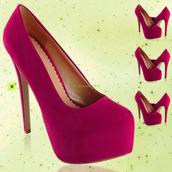 Womens Platform Pumps Sexy Rosy Stiletto 6 Inch High Heels Prom Court Shoes