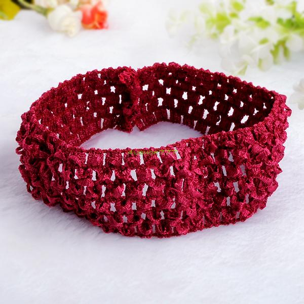 ... -Toddler-Beautiful-Cloth-Crochet-Headband-Elastic-Hair-Band-For-Girl