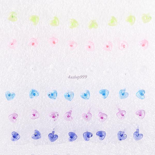 Womens Clear Star Moon Cross Heart Flower Ear Studs Stud Pin Earrings Wholesale