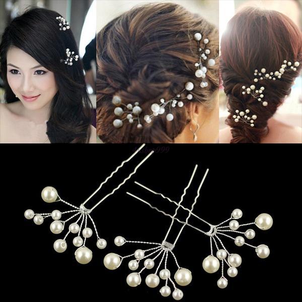 Wedding Decoration Bridal U-shaped Hair Pin Clip Bead Pearl Hairpin Jewellery