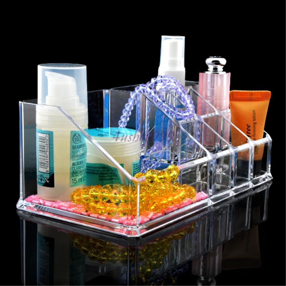 Clear Display Acrylic Stand Lipstick Cosmetics Makeup Frame Storage Organizer
