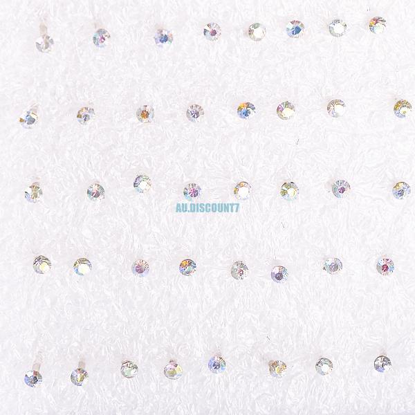 cute clear heart cross star moon allergy free pin ear studs stud earrings lot