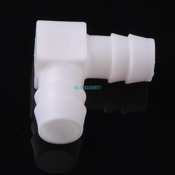 Plastic barbed degree elbow connector hose joiner pipe