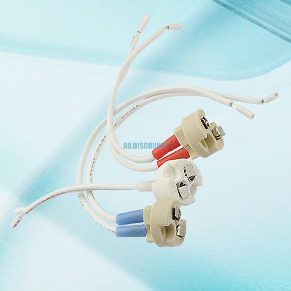 10x gu10 mr16 mr11 mains wire holder halogen led light bulb connector lamp base