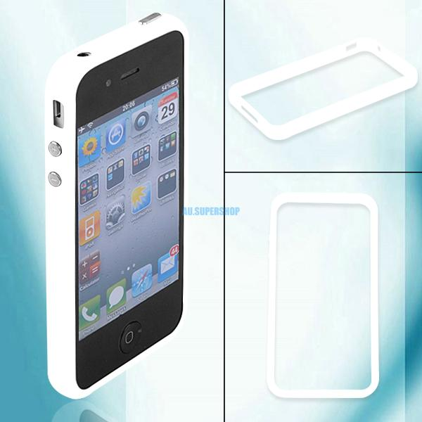Silicone Bumpers Cover Frame Case With Side Buttons For Apple iPhone 4 4th 4G 4s
