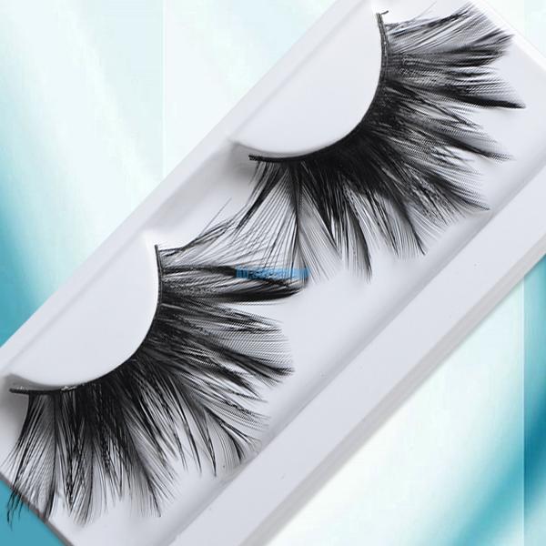 Swank Big Feather Fake False Eyelash Eye Lashes For Nightclub Cosplay Makeup