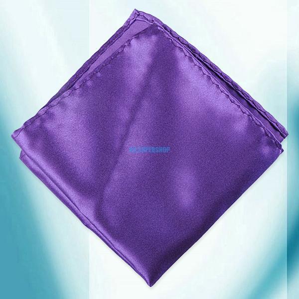 New Men Decent Pure Color Wedding Napkin Silk Handkerchiefs Hanky Square Pocket