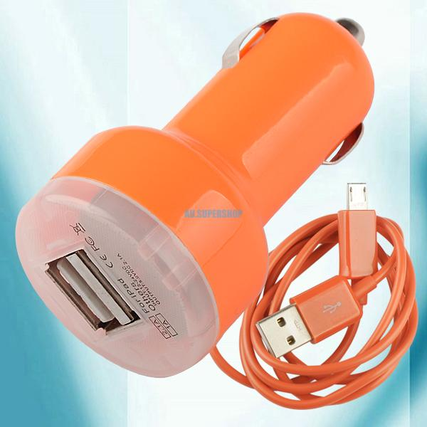 Universal-Cell-Phone-Micro-USB-Data-Sync-Cable-Cord-Dual-USB-Port-Car-Charger