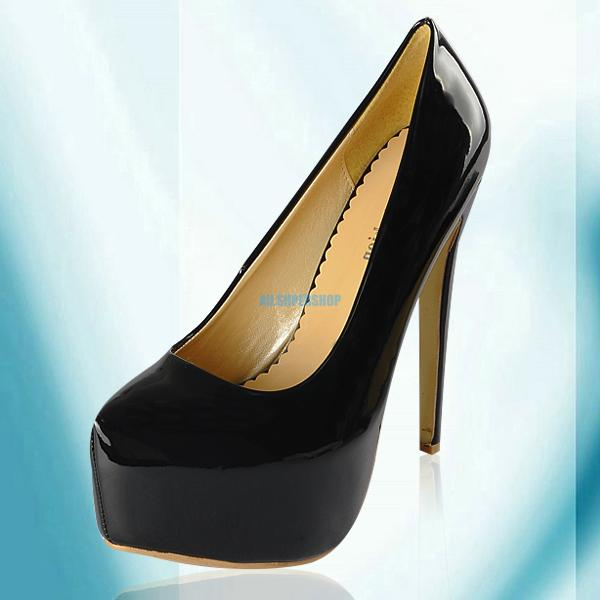 Shiny-Womens-High-Stiletto-Heels-Vogue-Party-Pumps-Platform-Court-Prom-Shoes