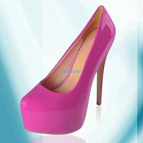 Shiny-Womens-High-Stiletto-Heels-Vogue-Party-Pumps-Platform-Court-Prom-Shoes