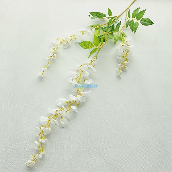 Artificial Plants Fake Flowers Wisteria Vine Leaf Garland Foliage DIY Deco