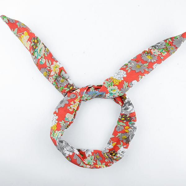 Fashion Cute Rabbit Bunny Ear Wire Headband Scarf Hair Band Bow Head Wrap Floral